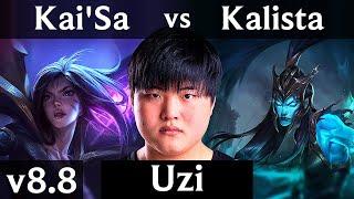 RNG Uzi - KAI'SA vs KALISTA (ADC) ~ Rampage ~ Korea Challenger ~ Patch 8.8