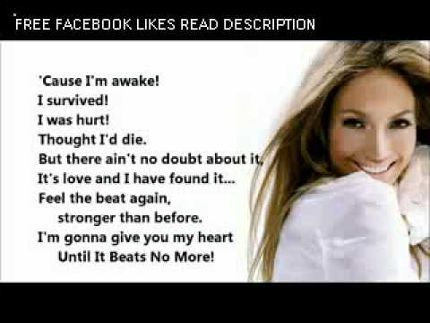 Jennifer Lopez   Until It Beats No More [Lyrics On Screen]