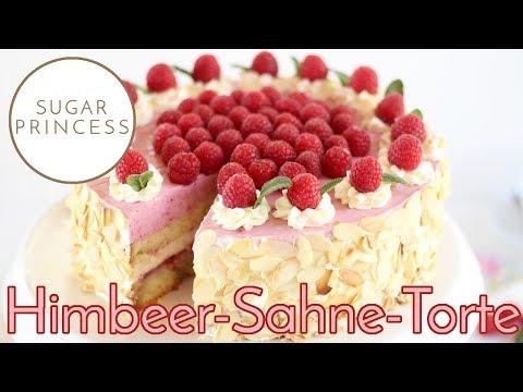 Sugarprincess: Traumhafte Himbeer-Sahne-Torte mit zweifarbigem Effekt - Rezept und Video