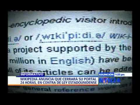 Wikipedia en inglés estará fuera de servicio durante 24 horas en protesta a la ley SOPA