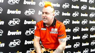 Grand Slam of Darts 2018 - Peter Wright says he 'made it hard work' despite victory against Max Hopp