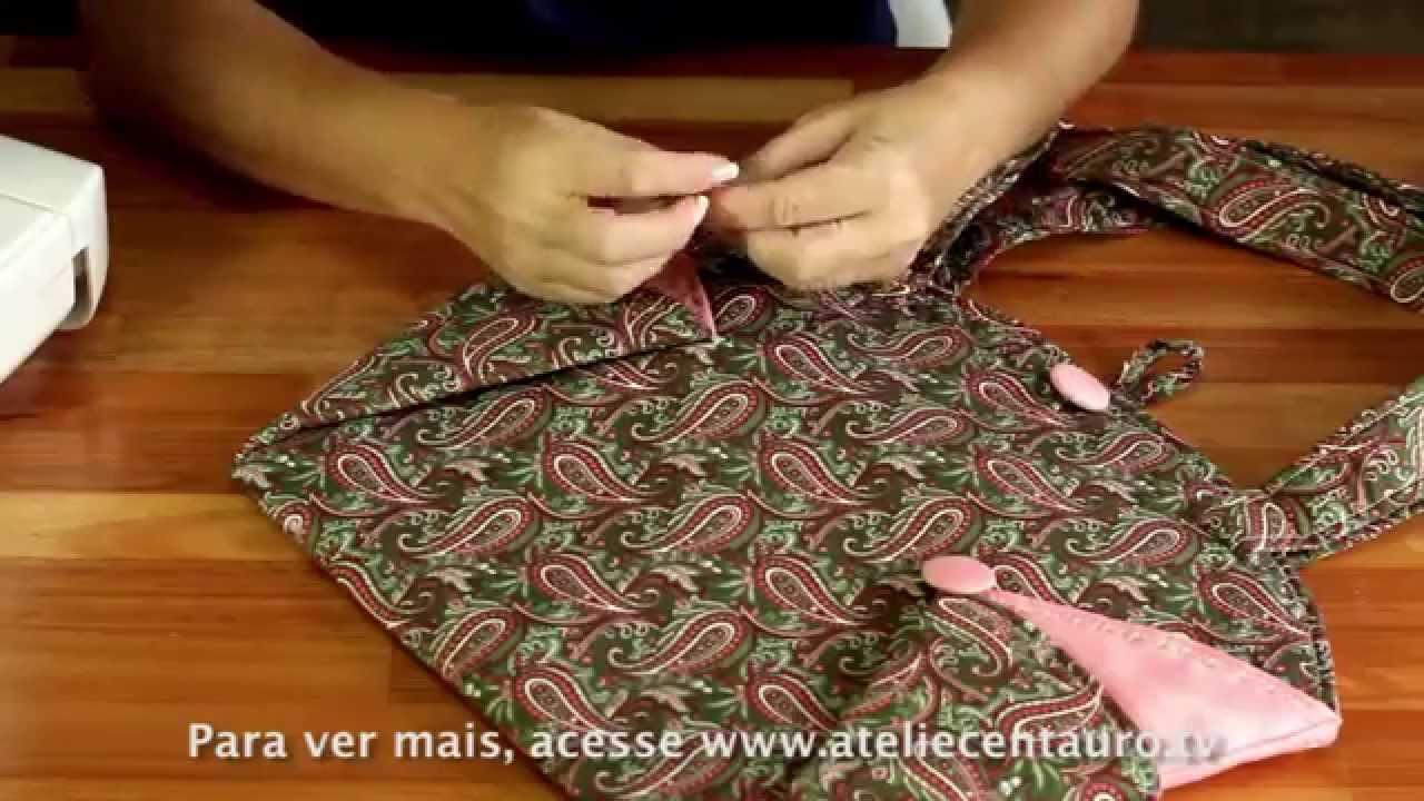 Bolsa De Tecido Redonda : Bolsa redonda artesanato ateli? centauro artes?