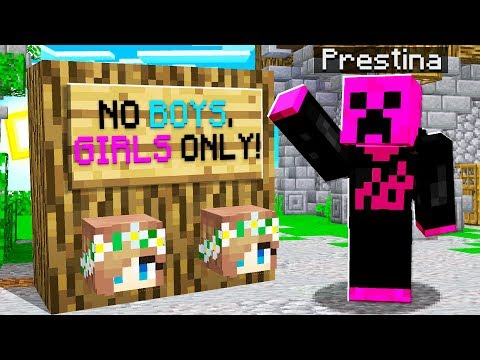 I Went UNDERCOVER on a GIRLS ONLY Minecraft Server...