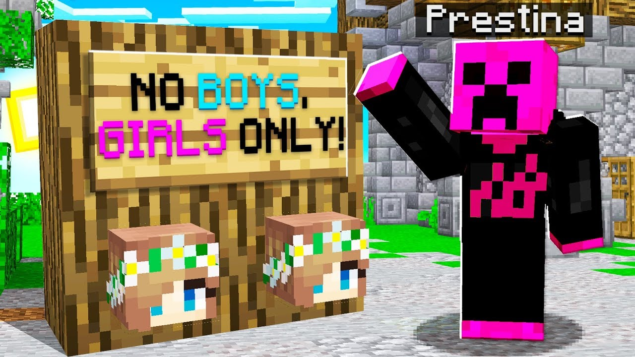I Went UNDERCOVER on a GIRLS ONLY Minecraft Server