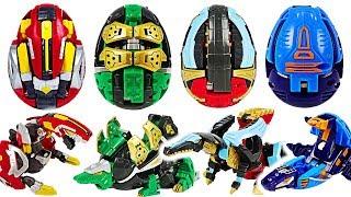 Hello Carbot Kung PinoKung, SteKung, MosaKung! Transform from eggs to dinosaur! #DuDuPopTOY