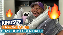 COZY BOY ESSENTIALS! Kingsize Direct Try-On Haul!