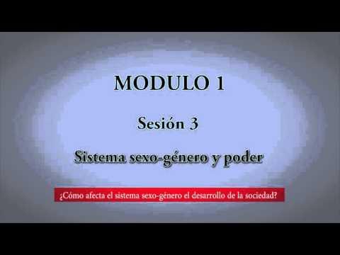 Módulo 1. Sesión 3. Sistema sexo-género y poder