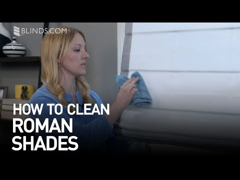How to Clean Roman Shades | Blinds.com