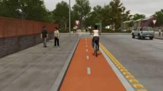 Red de Ciclovias en Chile 3D realizado por VOXEL