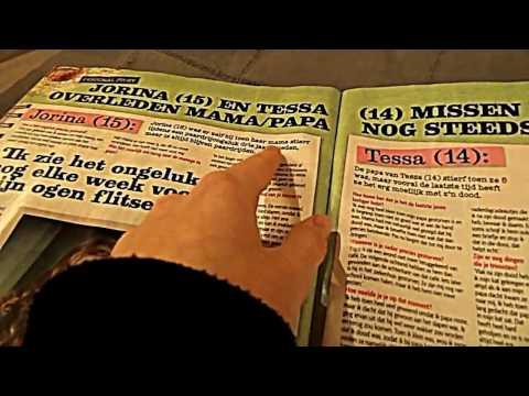 ASMR flipping through magazine/soft talking