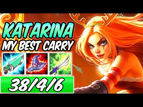 *38 KILLS* HOW TO DESTROY YOUR ENEMIES WITH KATARINA MID | Best Build & Runes | League of Legends