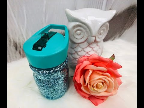 How to Epoxy a Plastic Tumbler Cup and add Glitter