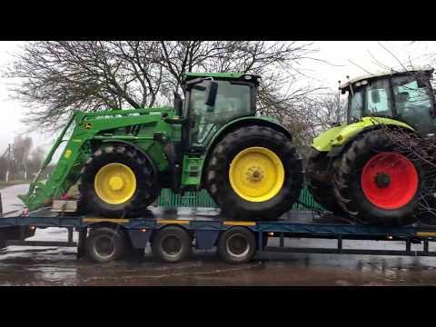 Доставили клієнтам трактора Claas Axion 850 та John Deere 6215R (Київська та Чернігівська обл.)