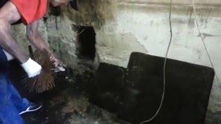 Czyszczenie mechaniczne komina szczotkami