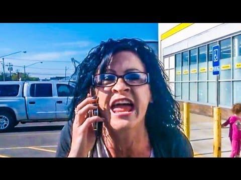 Black man white woman screaming sorry