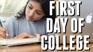 FIRST DAY OF COLLEGE VLOG | freshman year  2017