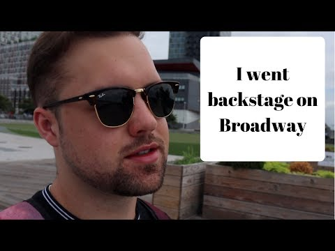 Going backstage at Frozen the Musical on Broadway | NYC Vlog