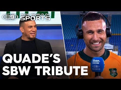 Quade's touching SBW tribute after fairytale comeback   Wide World of Sports