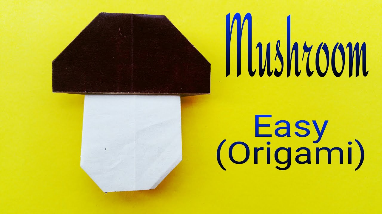 "How to fold / make an easy Paper ""Mushroom 🍄 "" - Origami ... - photo#31"