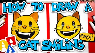 How To Draw The Cat Smiling Emoji