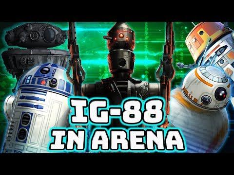 Reworked IG-88 Arena Gameplay - Target Lock Mayhem! | Star Wars: Galaxy of Heroes