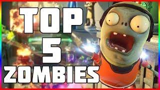"""Top 5 Zombies! Plants vs Zombies Garden Warfare 2 """"TOP 5 CHARACTERS"""""""