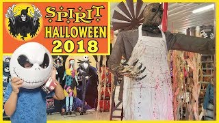 SPIRIT HALLOWEEEN 2018 Store Tour SCARY Animatronics COSTUMES Spiders and 20% COUPON - Willy
