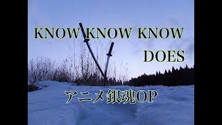 『アニメ銀魂17代目OP』KNOW KNOW KNOW/DOES【歌詞付き】-本人完全再現-