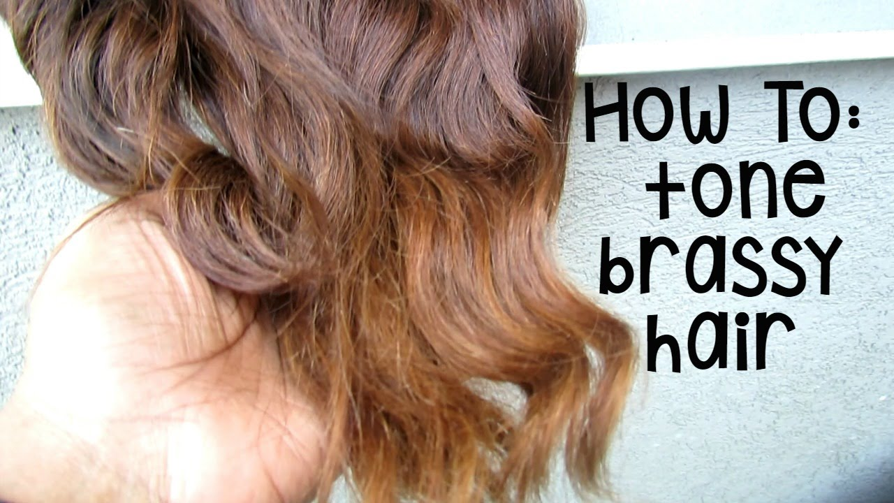 How To Tone Brassy Orange Hair With Drugstore Dye Youtube