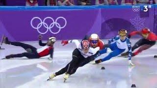 JO 2018 - Short track : Une chute pour Thibaut Fauconnet en finale ! Le Coréen Lim Hyojun titré