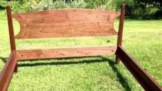 Walnut Shaker Bed Handmade In Vermont By Hawk Ridge Furnitu