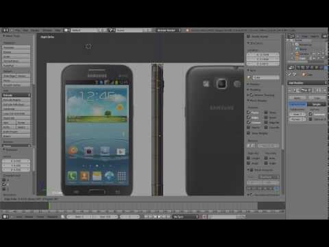 Modeling SAMSUNG in Blender