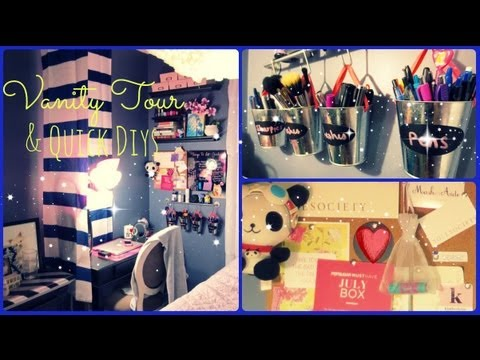 Vanity U0026 Office Tour 2013!   DIYs U0026 Decorating Ideas 🌺   YouTube