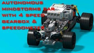 Mindstorms робот-машина зі спідометром і коробкою передач