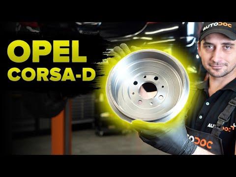 Как заменить тормозные задние барабаны на OPEL CORSA D [ВИДЕОУРОК AUTODOC]
