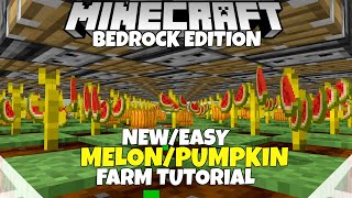 Minecraft Bedrock: NEW Melon And Pumpkin Farm Tutorial! MCPE Xbox PC