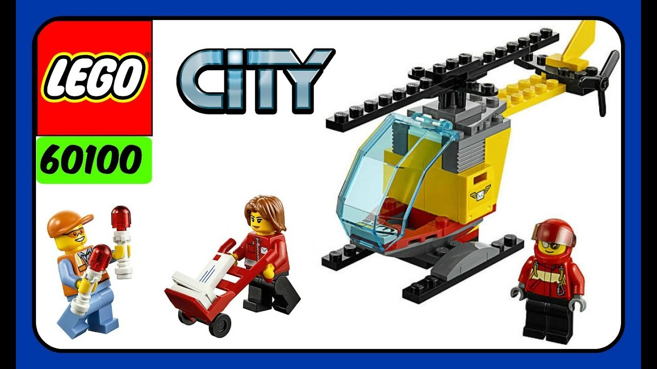 d9d8ca052da LEGO City Airport Starter Set 60100! Build Your Own Helicopter With LEGO  Building Blocks!