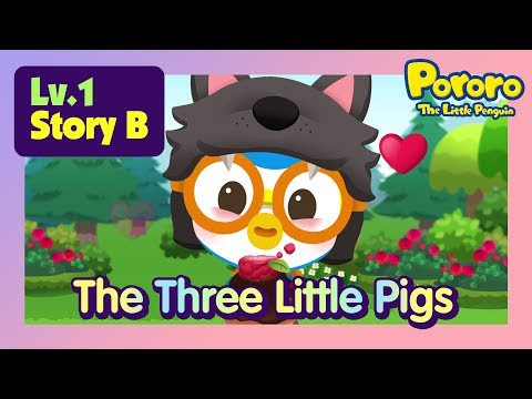 [Lv.1] The Three Little Pigs in a Cookie House? | Bed time story for kids | Fairy Tales | Pororo