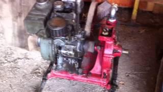 Pompe à eau accouplé sur moteur Bernard W110