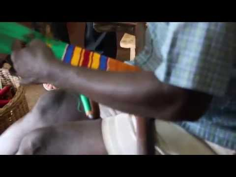 Making Kente Cloth at the Cultural Center - Accra, Ghana