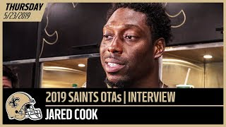 Jared Cook on His 1st Impressions of Drew Brees at Week 1 of OTAs | New Orleans Saints