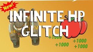 FORTNITE INFINITE HEALTH APPLE GLITCH | SHOOTING SCAR WHILE PARACHUTING?!