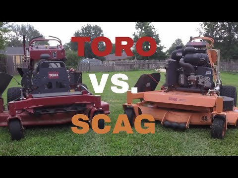 Toro Grandstand VS. Scag V-Ride, Stripe and Cut Quality Comparison