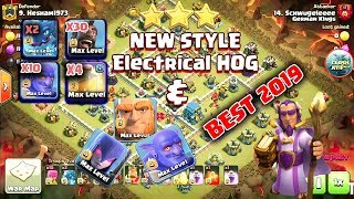 NEW STYLE Electrical Hog Attack Strategy 2019 | TH 12 New 3 Star Attack Strategy | New Th12 War 2019