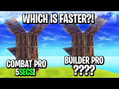 """BUILD AS FAST AS MYTH"" - Builder Pro VS Combat Pro! WHICH IS FASTER?!"