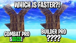 """""""BUILD AS FAST AS MYTH"""" - Builder Pro VS Combat Pro! WHICH IS FASTER?!"""
