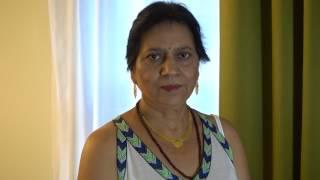 Aruna Sharma got 2nd White Dress from Carrefour Barakaldo on Shrawan Poornima, Aug 07, 2017