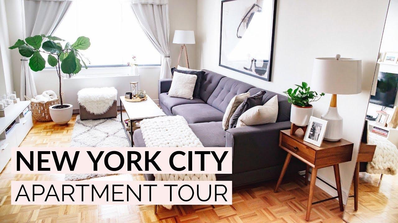 NEW YORK CITY APARTMENT TOUR | Living Room & Kitchen - YouTube