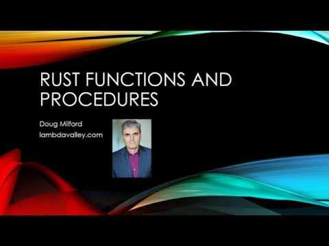 Rust Functions and Procedures