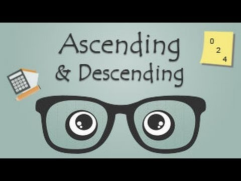 Sequence: Ascending and Descending Order - YouTube